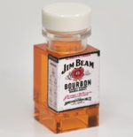 "Bottle with print ""JB"" on 3 sides"