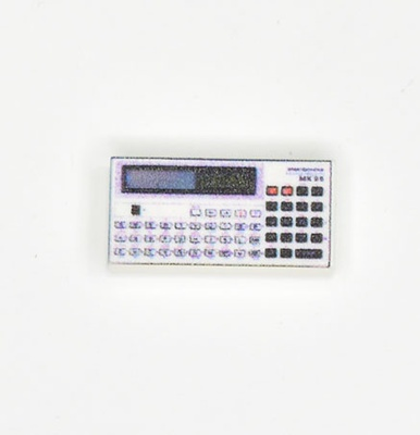 "Tile 1 x 2 with Groove ""calculator electronica"""