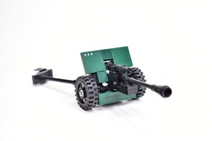 WWII SOVIET 76 mm divisional gun M1942 (ZiS-3) Model built from Lego parts
