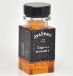 "Bottle with print ""JD"" 4 side prints"