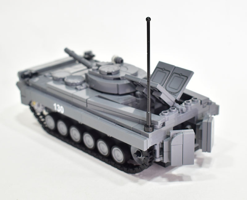 The BMP-1 amphibious tracked infantry fighting vehicle.