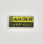Tile 1 x 2 Danger Keep Out