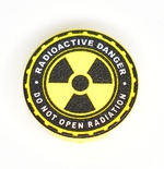 "Tile 2 x 2 ""Radioactive danger"""