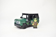 UAZ 469 off-road military light utility vehicle with minifigure