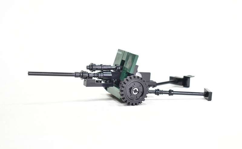 57 mm anti-tank gun M1943 (ZiS-2) with prints Model built from Lego parts