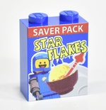 Brick 1x2x2 Star Flakes