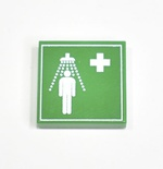 "Tile 2 x 2 ""Emergency Medical Shower"""