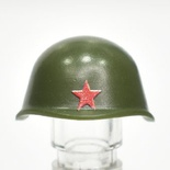 Helmet SSh-40 with printed red star