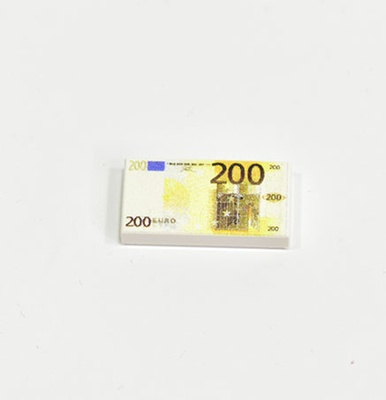 "Tile 1 x 2 with ""200 EURO"""