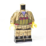 Afghan Soviet, dark tan,Chest rig, boots, LEGO Legs and torso