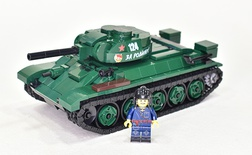 T-34/76 1943 with UZTM stamped turret. From LEGO parts.