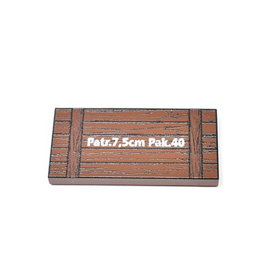 "Tile 2 x 4 reddish brown ""Patr. 7,5 cm Pak 40"""