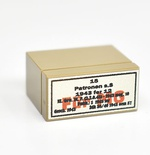 Tile and brick 1 x 2 dark tan german ammo box for MG