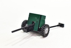 45 mm anti-tank gun M1942 (M-42) Model built from Lego parts