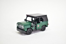 UAZ 469 off-road military light utility vehicle Model built from Lego parts